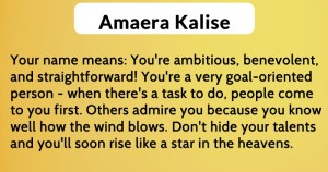 Amaera Kalise - meaning