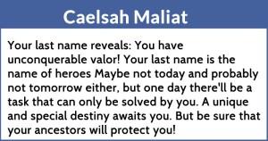 Caelsah Maliat